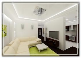 сатиновый потолок натяжной фото