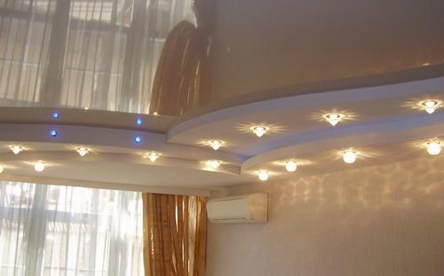 подсветка натяжного потолка 2